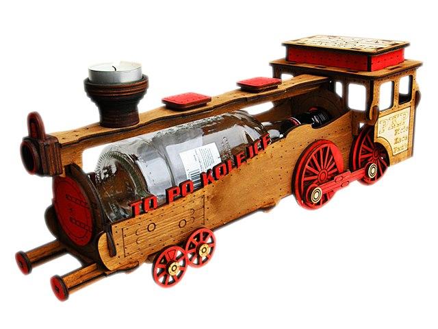 Vlak na fľašu Grawer Darček Narodeniny 18 40 50