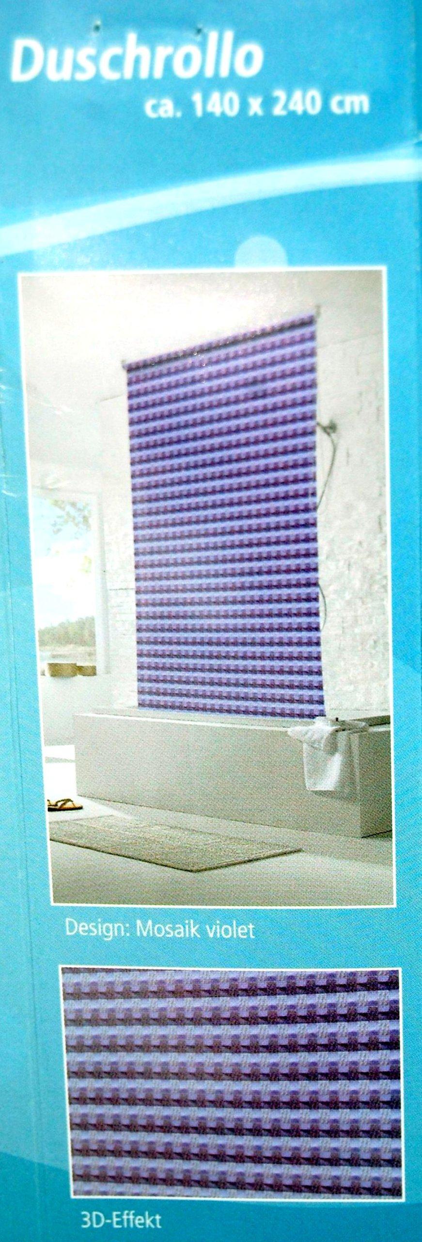 sprchová závesová vaňa ROLLET 3D fialová