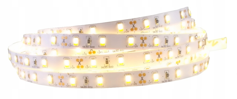 LED pásy svetla, 5630 300LED SMD 12V IP20 teplá biela 5m
