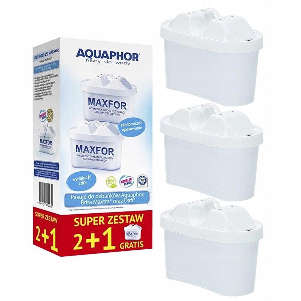 3x фильтр AQUAPHOR MAXFOR B100-25 BRITA MAXTRA DAFI