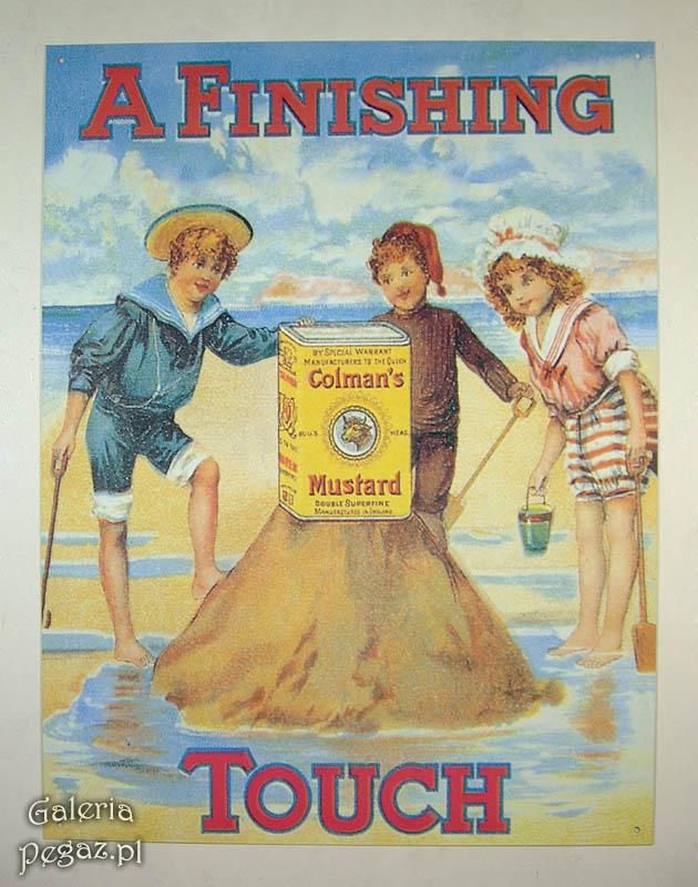 Deti na pláži tin plagát retro dekorácie