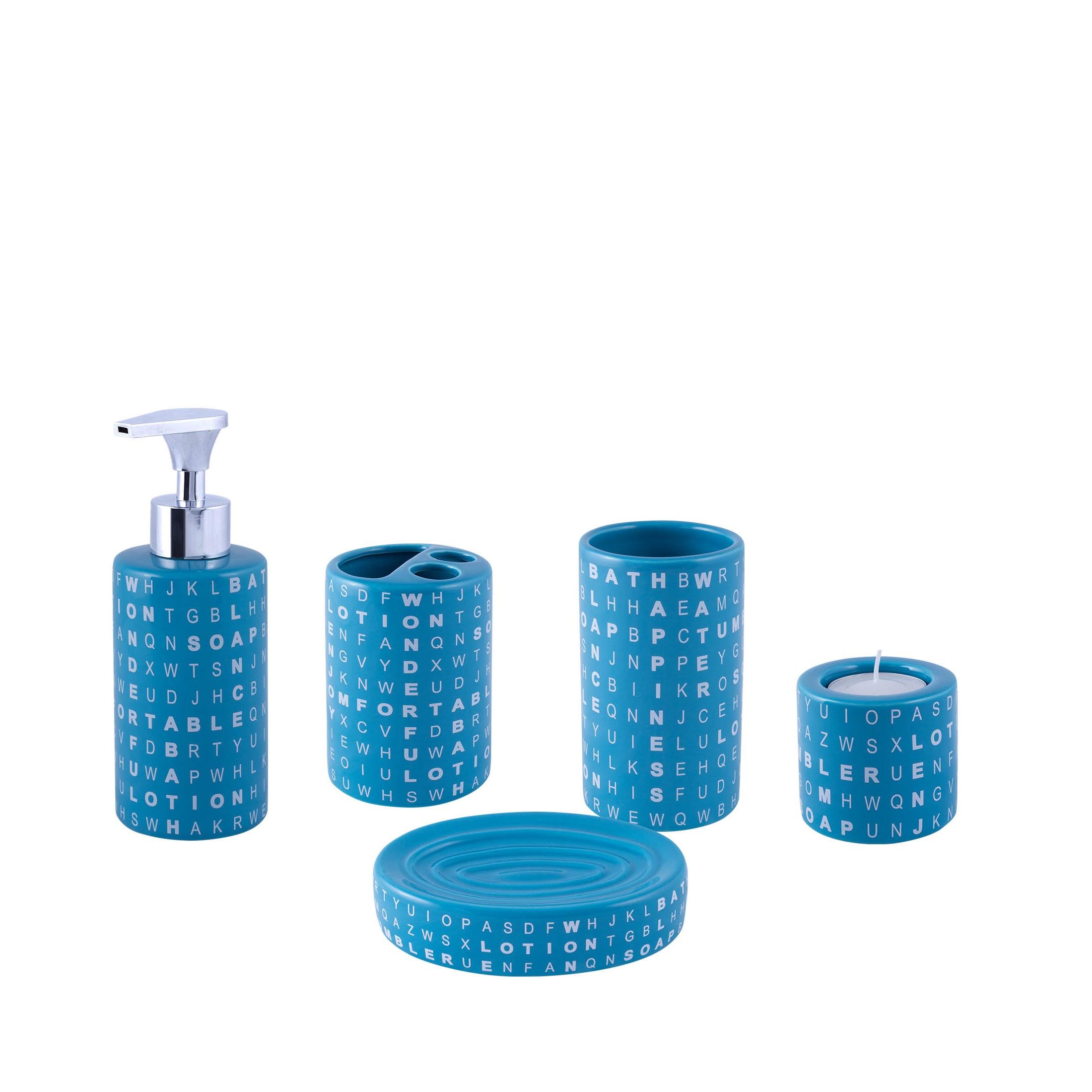Kúpeľňová súprava Enzo keramická súprava 5 ks
