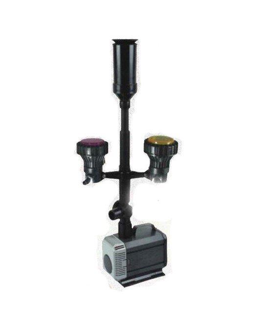 Pompa fontannowa 5500l/h + kaskada+oświetlenie