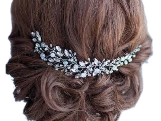 Item Z25 Decoration of a Sprig for hair Wedding Tiara Silver