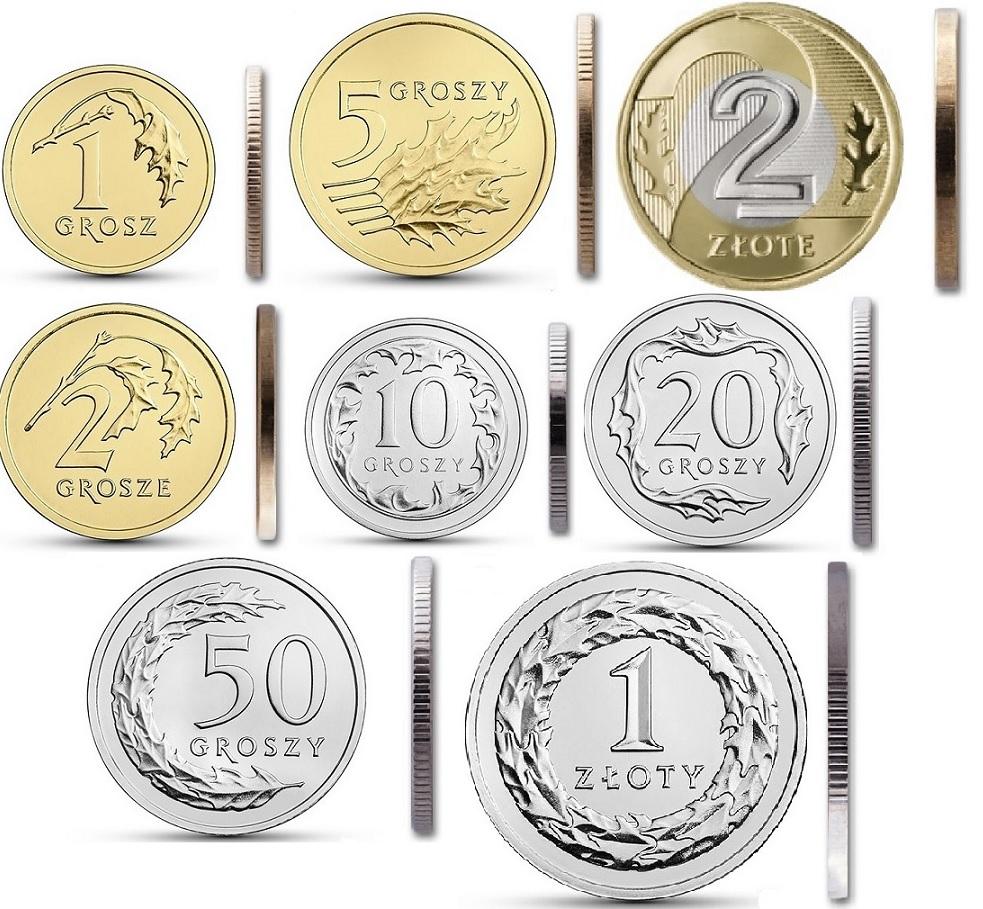 1 2 5 10 20 50 гр и 1 2 злотых 2019 мятный набор