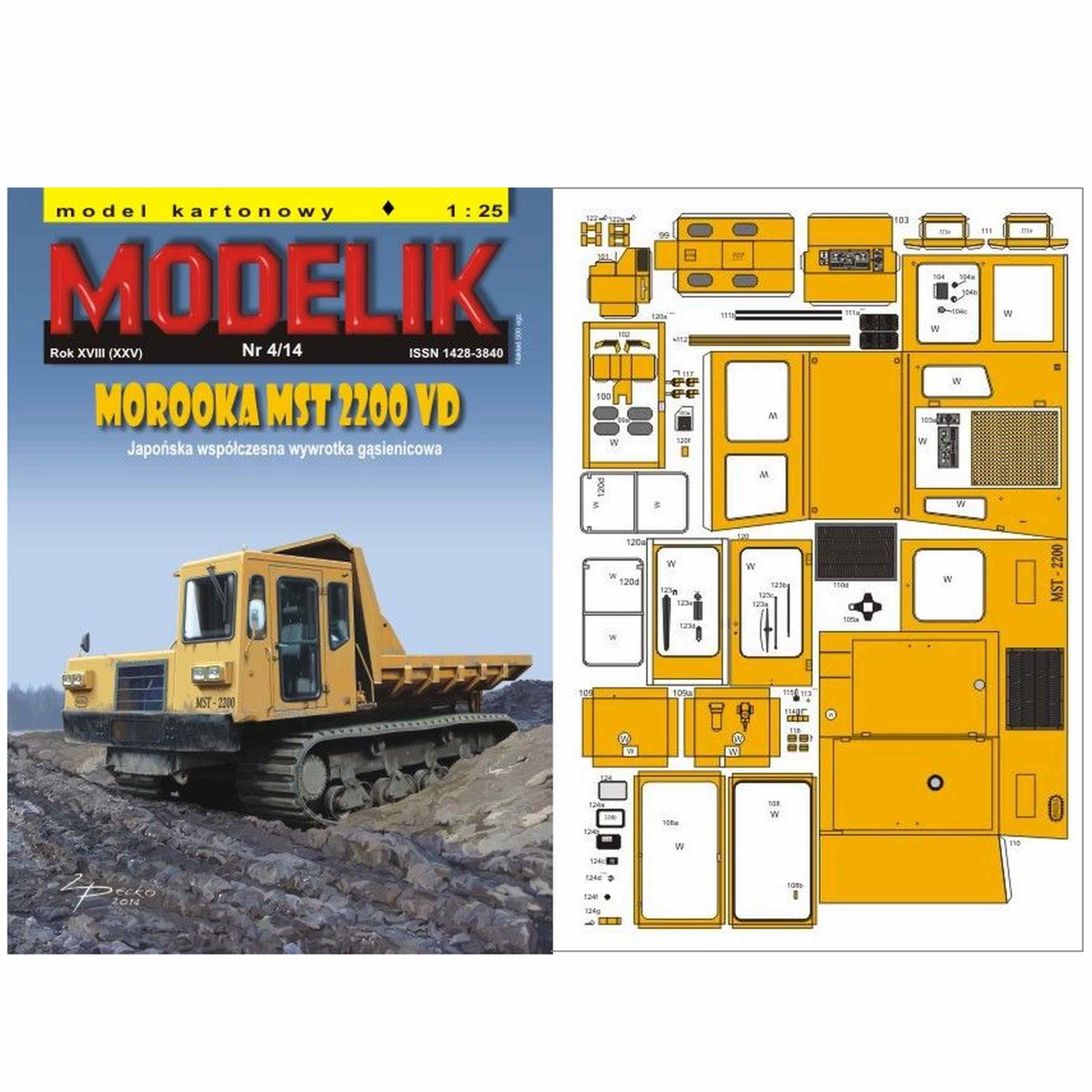 Modelik 4/14 Sklápač MOPOOKA MST 2200 VDP 1:25