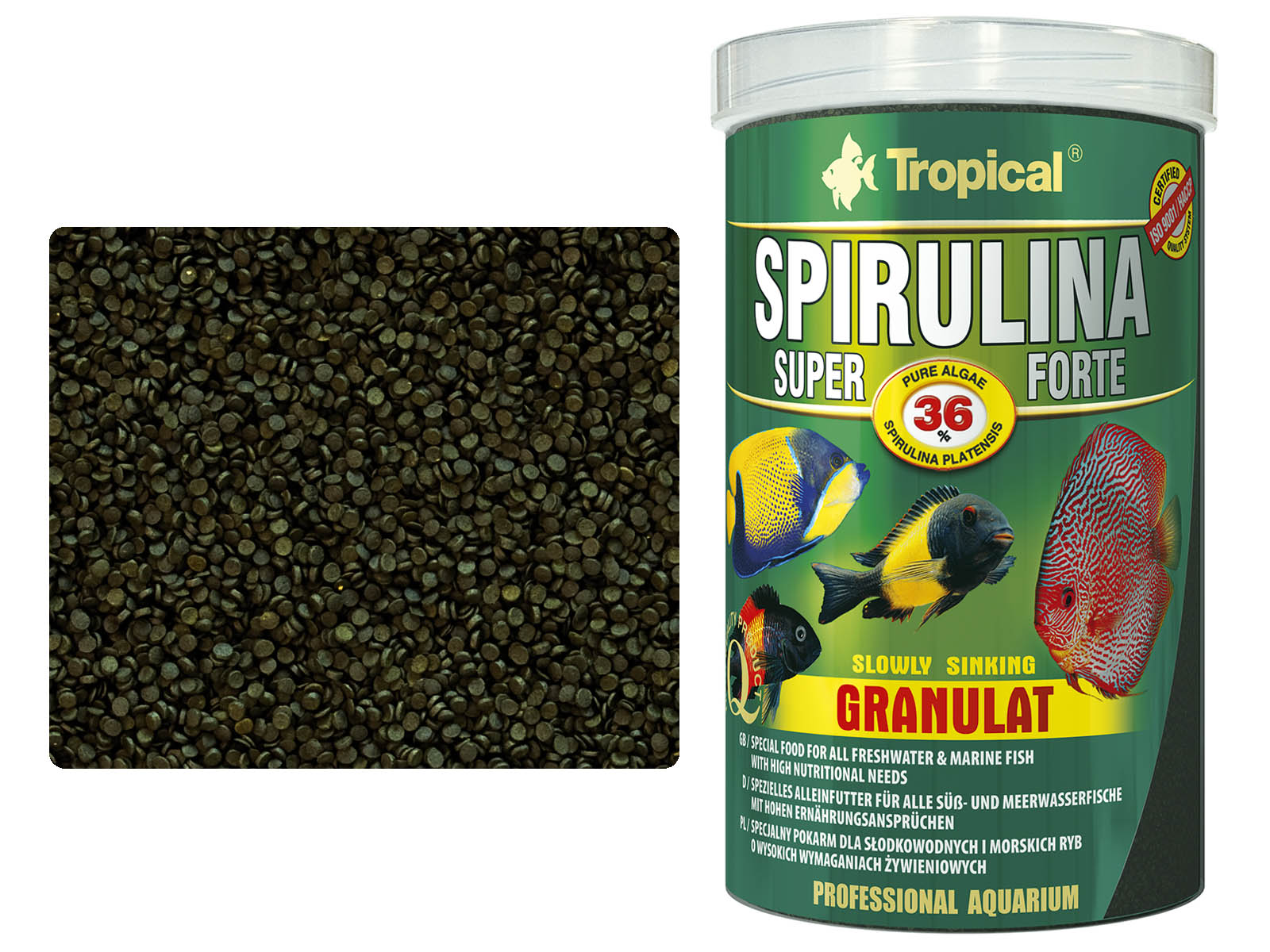 TROPICAL SPIRULINA SUPER FORTE 36% PELETY, 1000 ml