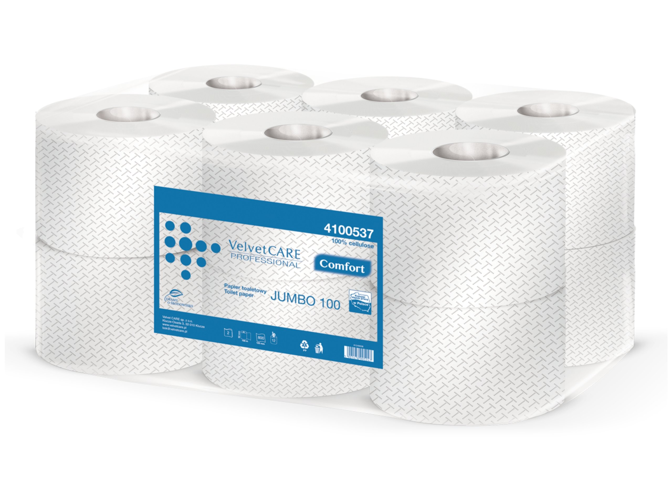 Туалетная бумага Velvet Jumbo Comfort 100 12 рулонов