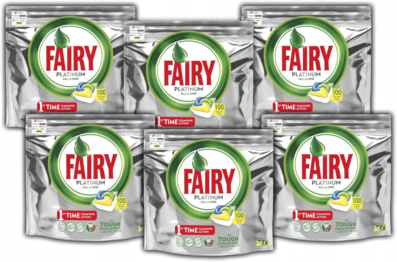 Fairy Platinum таблетки для посудомоечных машин 600 штук