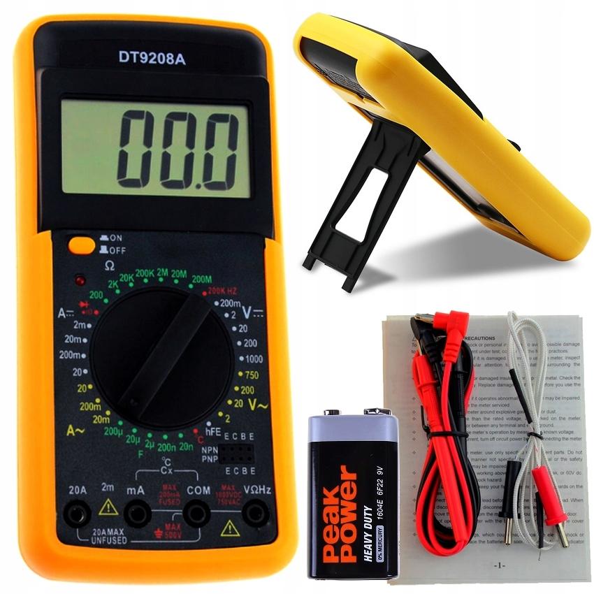 измеритель цифровое z temperatura мультиметр dt9208a