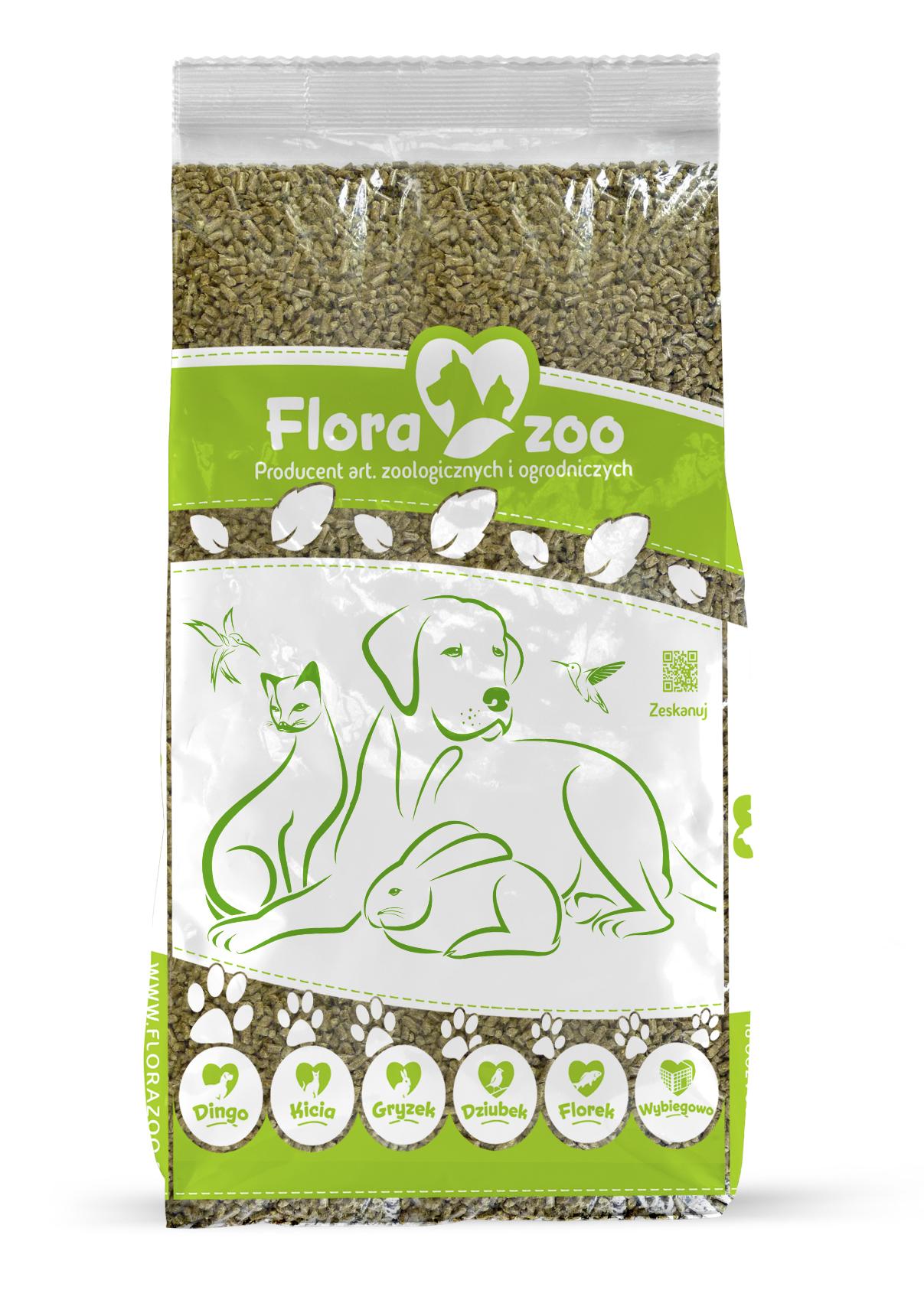 Гравийный корм, сено-субстрат для кролика-грызуна 30л