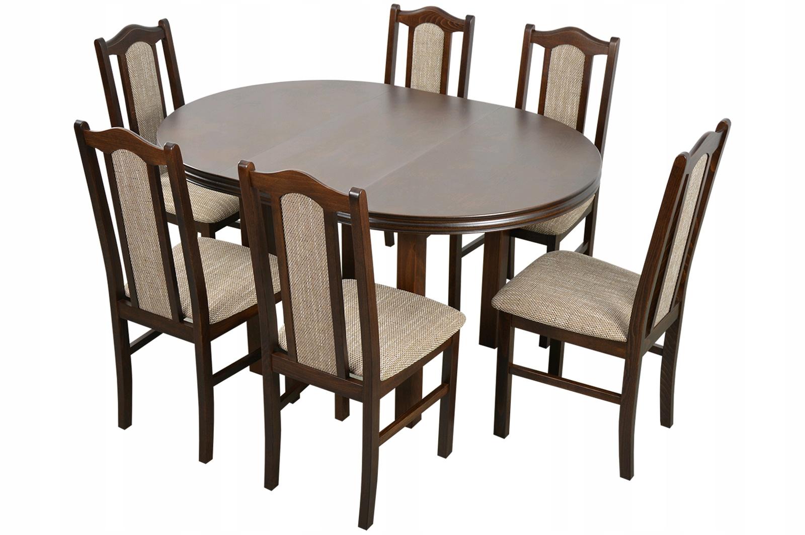 100/140 skladací stôl a 6 stoličiek drevených