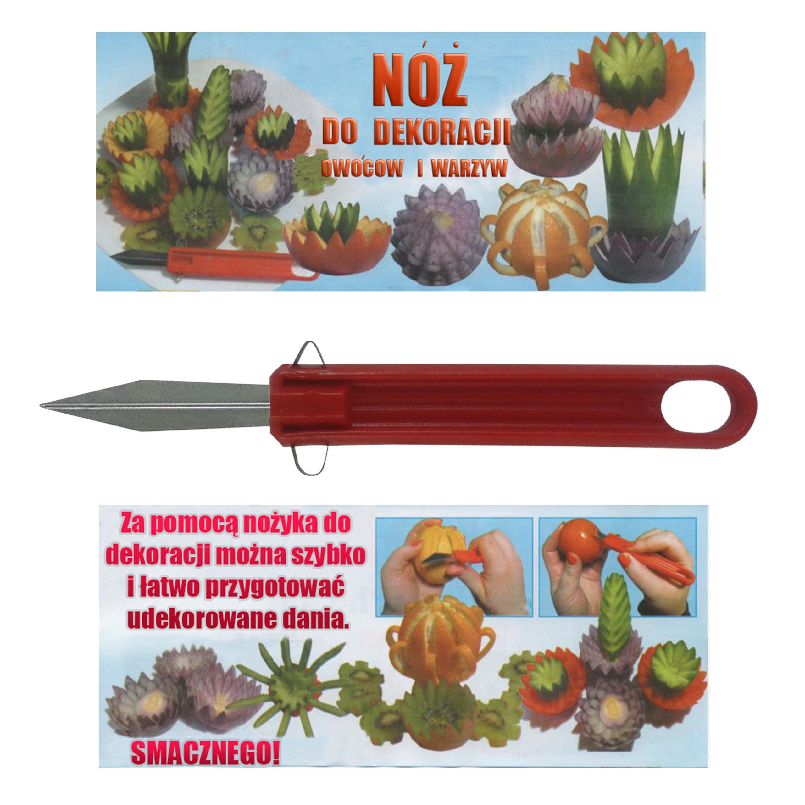Nóż Do Dekoracji Warzyw I Owoców Carving Ozdoba