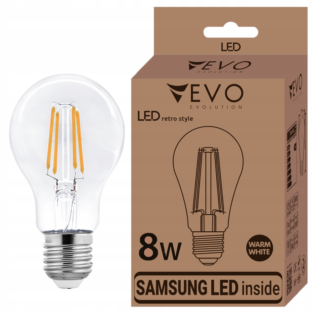 RETRO E27 LED 8W 2700K, EDISON VINTAGE