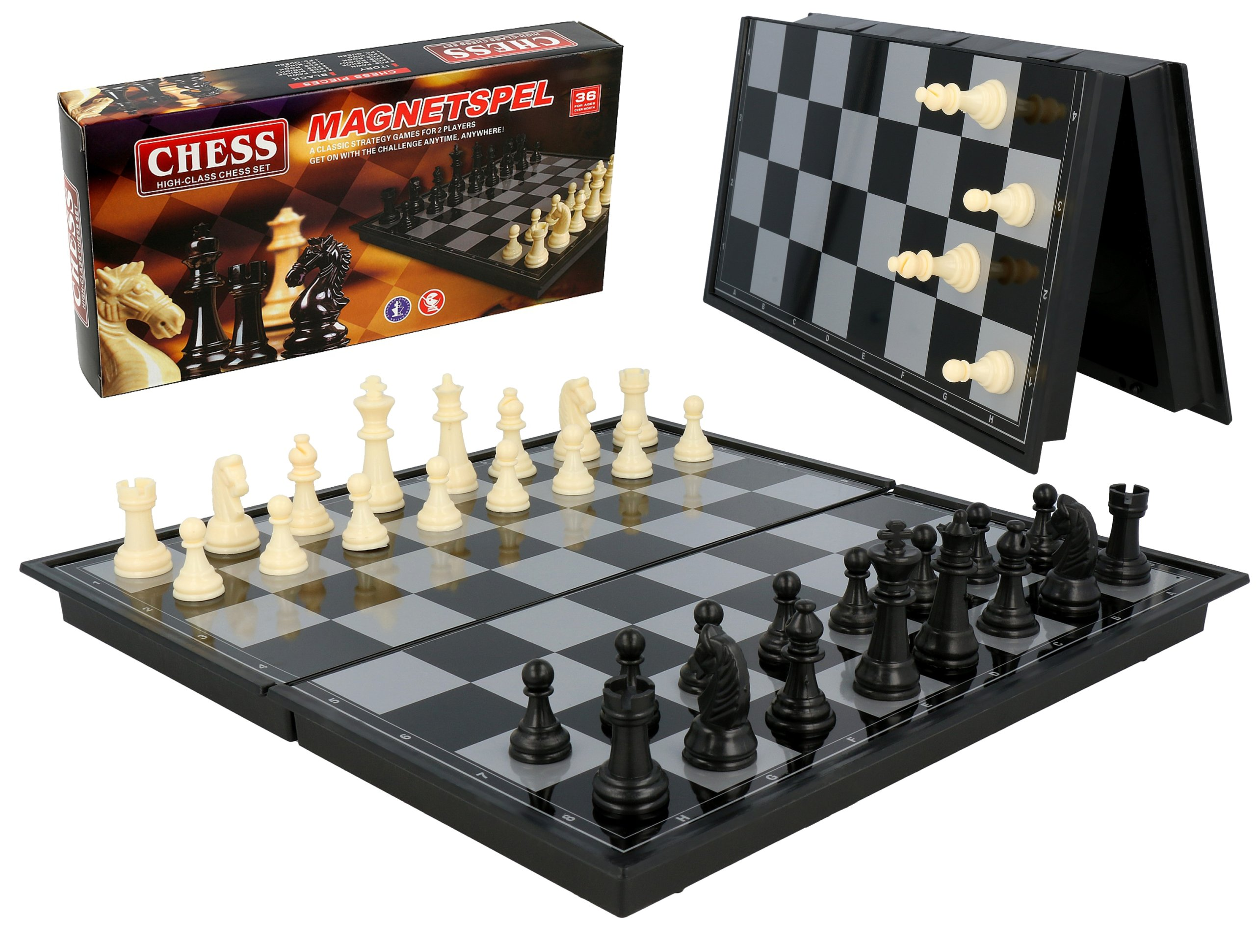 Item CHESS MAGNETIC CHECKERS TRAVEL 20cm GIFT 40