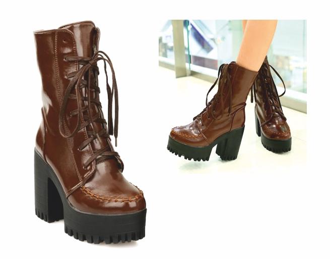 BT02 topánky MOTOCYKEL členková obuv GLANY vintage brown 36