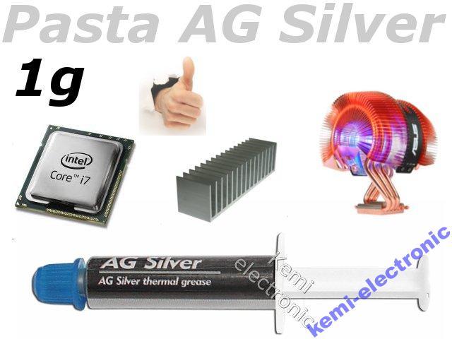 Pasta termoprzewodząca Silver 1g radiator procesor