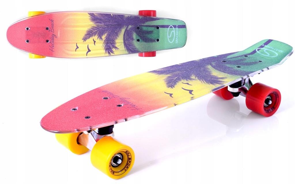 Skateboard SMJ SILNÝ až 100 kg ABEC-7 Retro Novinka