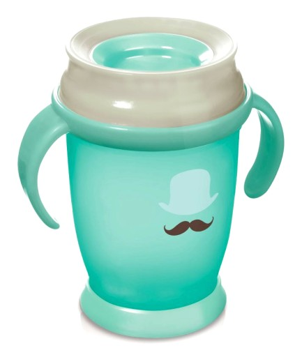 LOVI 360 JUNIOR HRNČEK RETRO BABY 12M+ MINT 250 ML