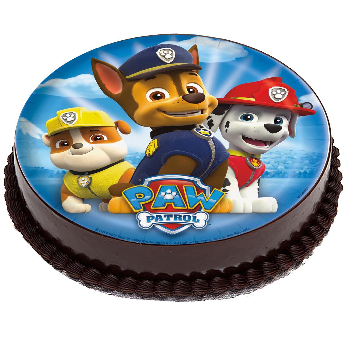 OPŁATEK NA TORT Psi Patrol PAW PATROL Pieski 20cm
