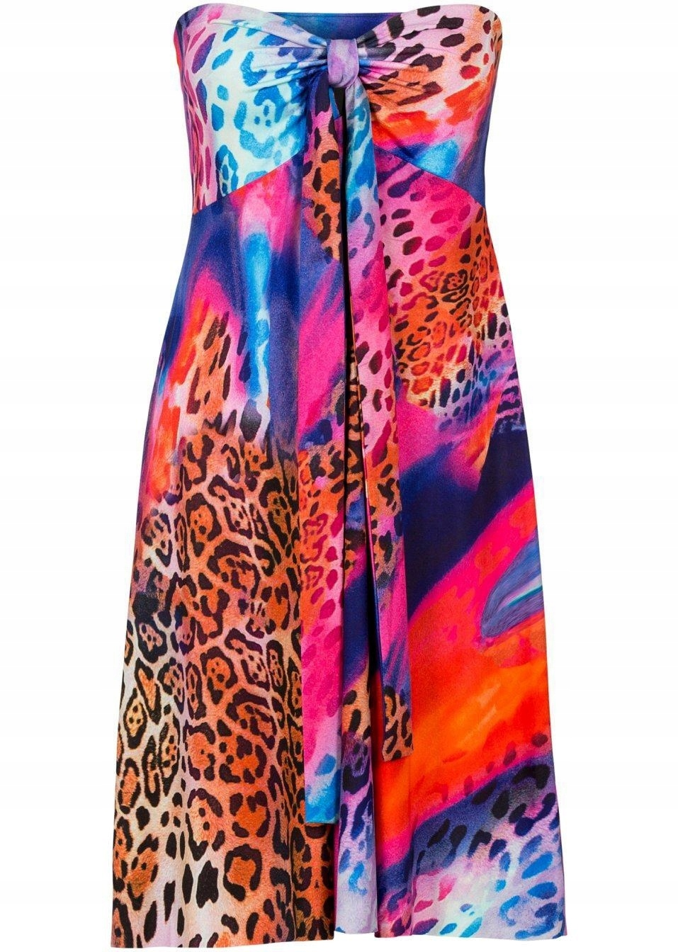 Sukienka wiązana na szyi 32 kolorowa PA1507