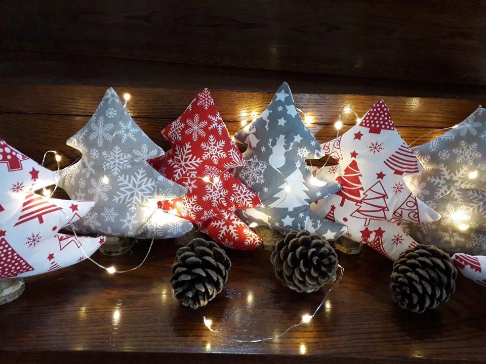 Choinki Z Materiału Boże Narodzenie Dekoracja Big