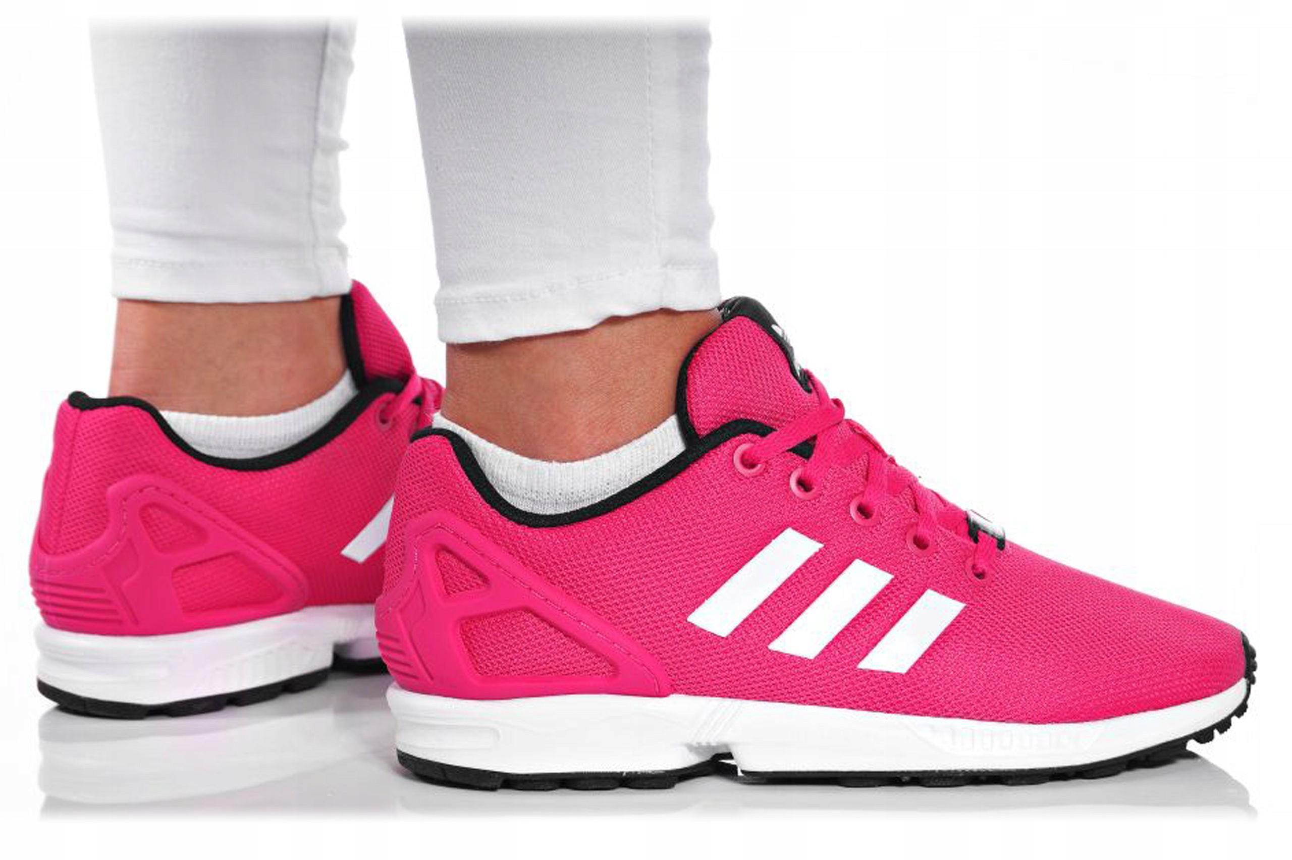 Damskie Buty Sportowe adidas ZX Flux K S74952 Biały Różowy