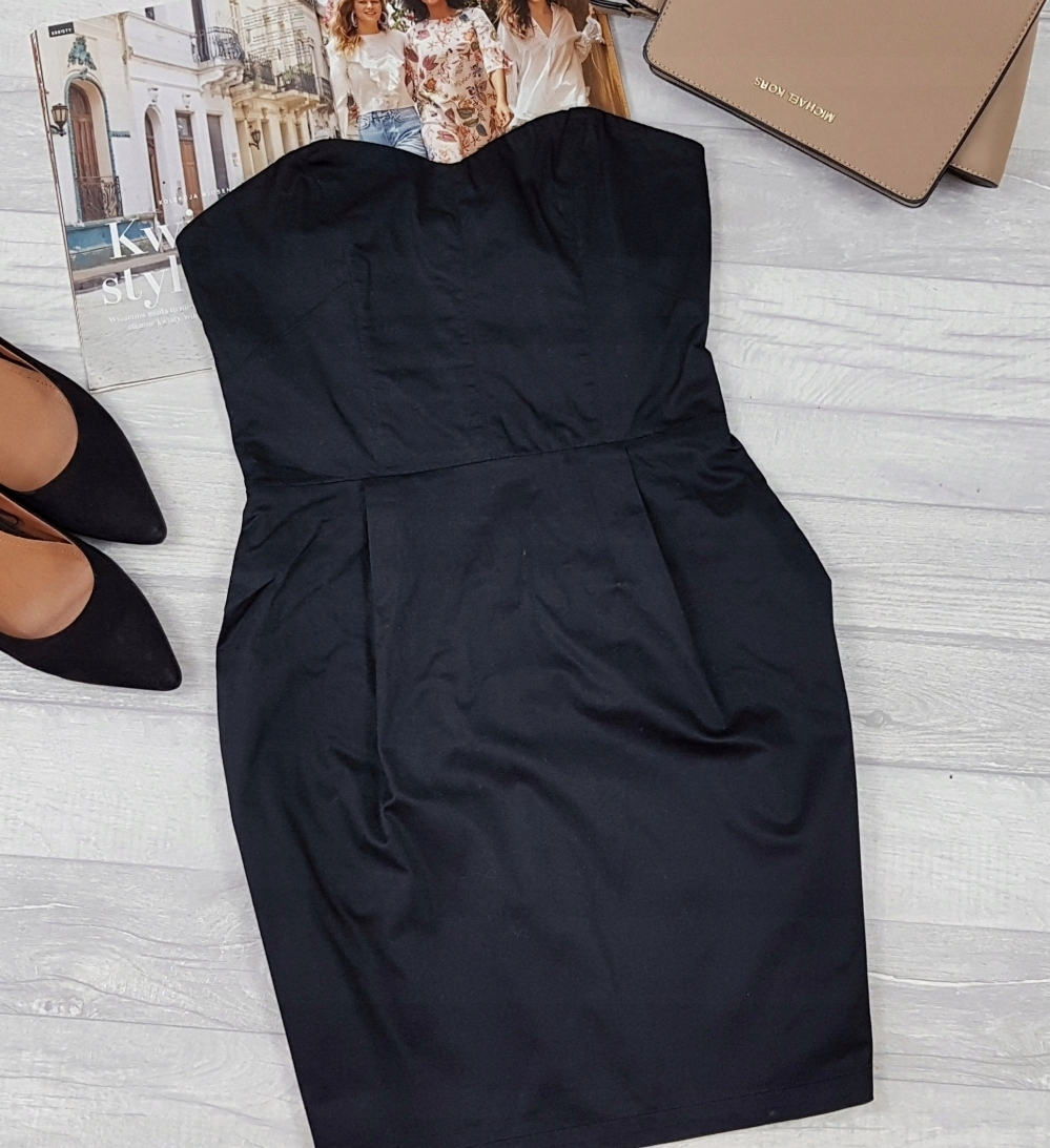 06dd7736b0 H M   sukienka MAŁA CZARNA   gorsetowa   36 S - 7508843144 ...