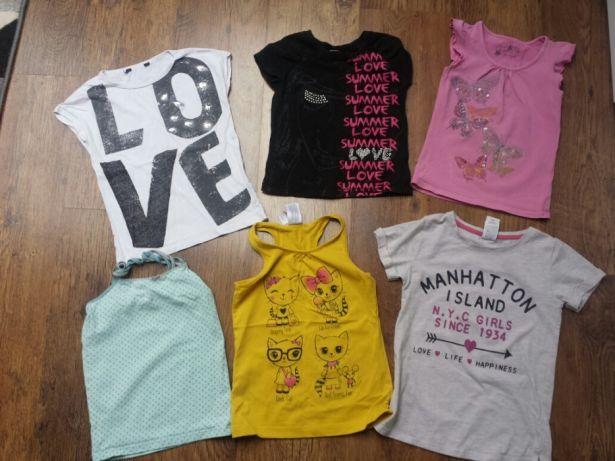 07f7da6033 Zestaw 110-116 bluzki+koszulki dla dziewczynki - 7326526429 ...