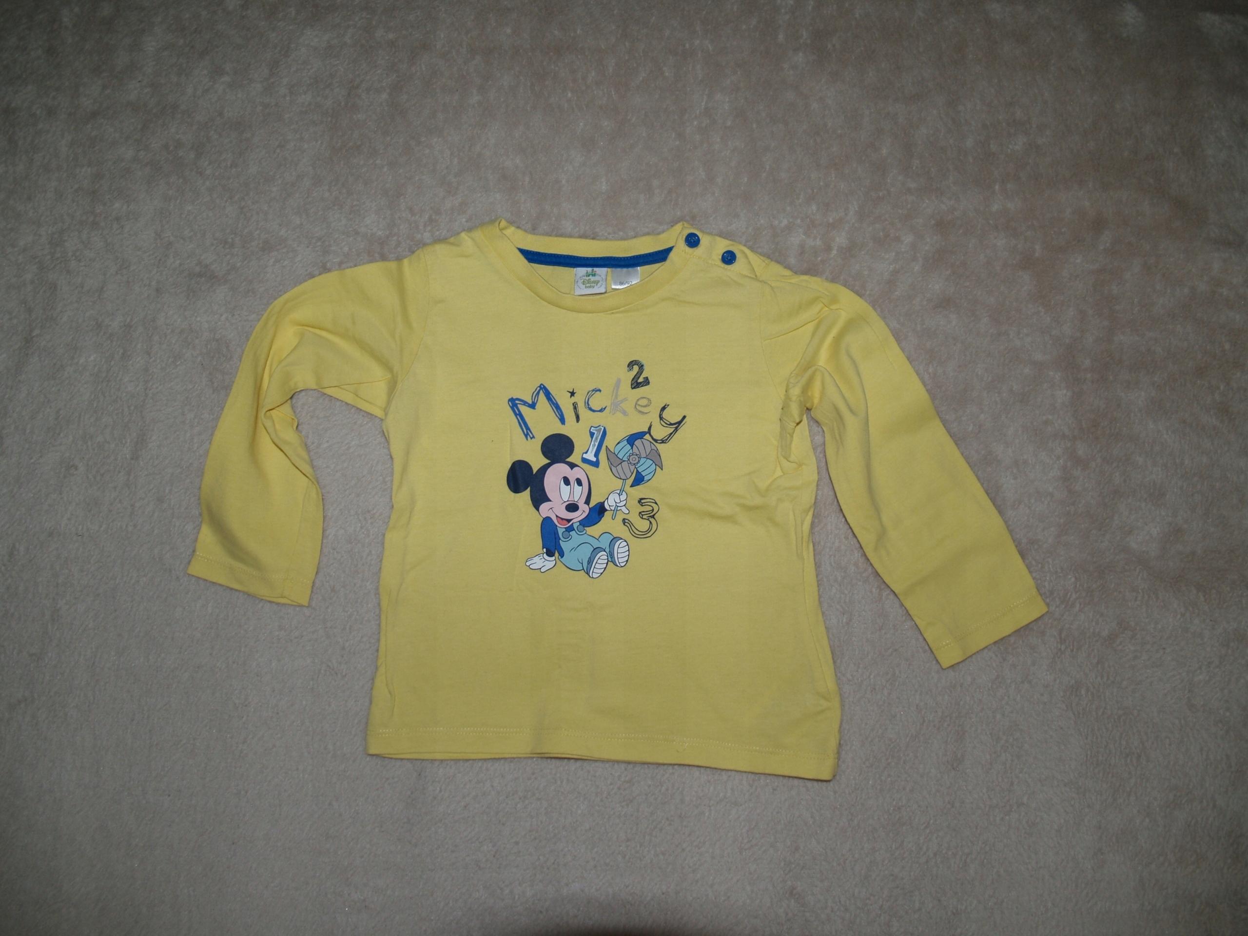 2e332395541982 Koszulka DISNEY Myszka Miki 86/92 długi rękaw - 7530120486 ...