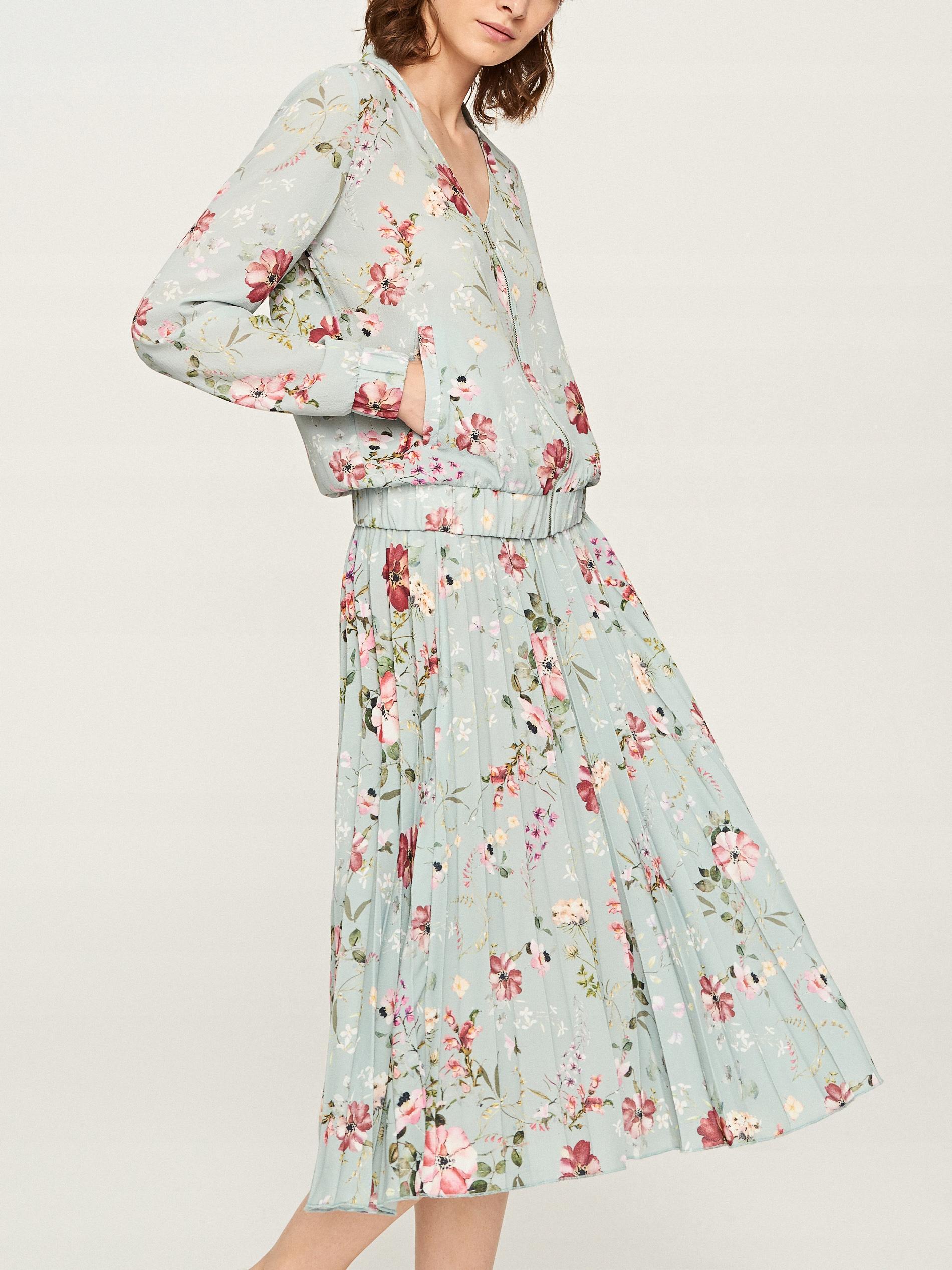 Spódnica pastelowa kwiaty midi Reserved 36 38 S M