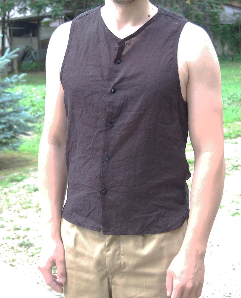 ZARA czarna koszula bluzka bez rękawów M 38 len