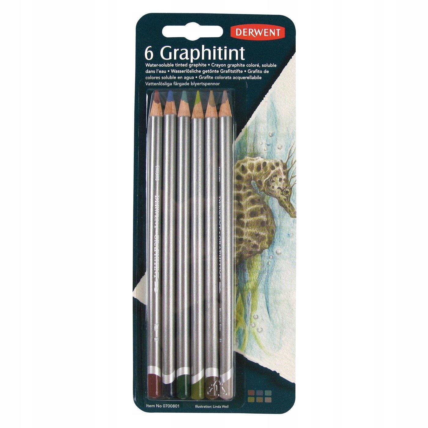 DERWENT GRAPHITINT Zestaw 6 kolorowych ołówków