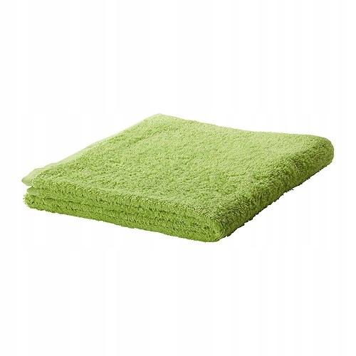 IKEA HAREN ręcznik kąpielowy 70x140 frotte zielony