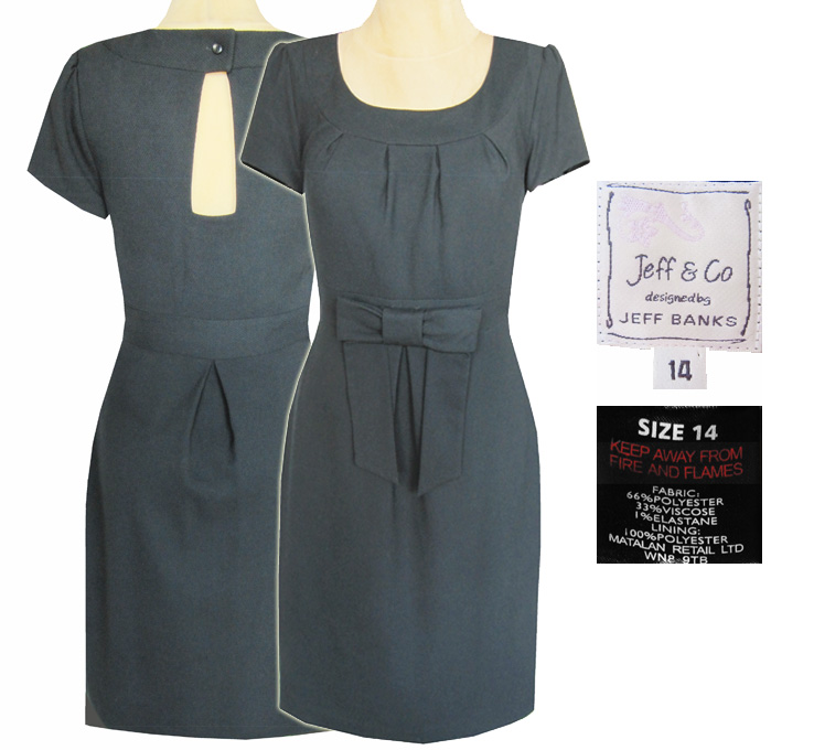 3caf4ed9ed Jeff   Co Śliczna sukienka z dzianiny r. 42 - 7392529214 - oficjalne ...