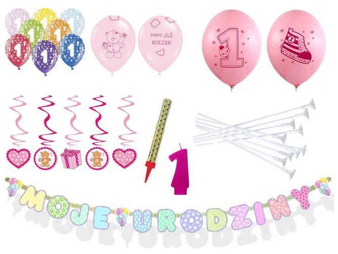 Zestaw Na Roczek Pierwsze Urodziny Dekoracje 6922403160