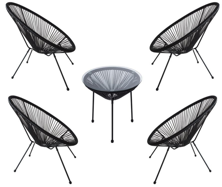 Meble Ogrodowe Zestaw Stol 4krzesla Fotele Ratan
