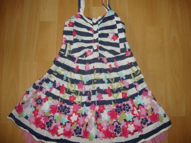 06b75d08fd sukienka kwiaty paseczki dziewczynka 98 next - 7405548650 ...