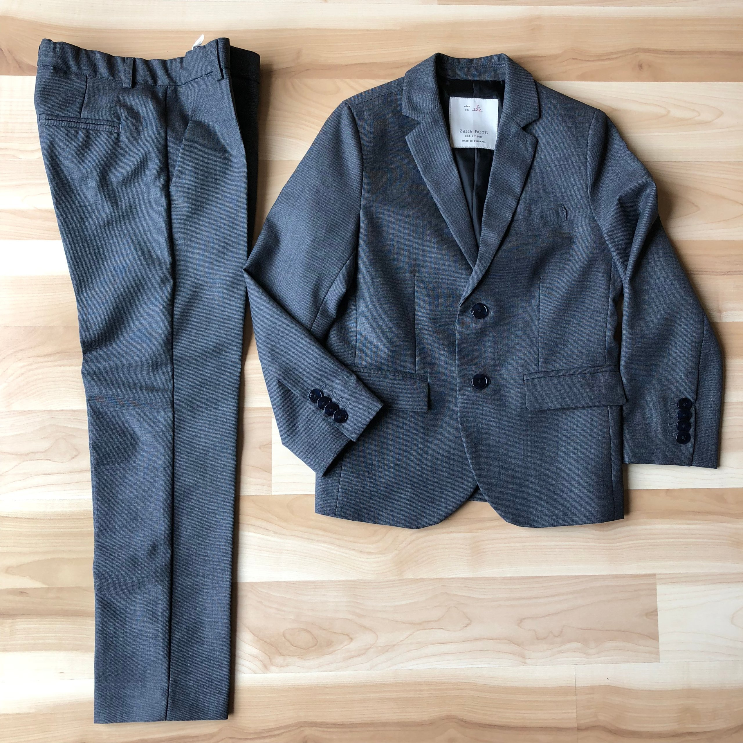 4b84cfaf6f734 Zara GARNITUR Marynarka Spodnie + Koszula 122 cm 7 - 7352400266 ...