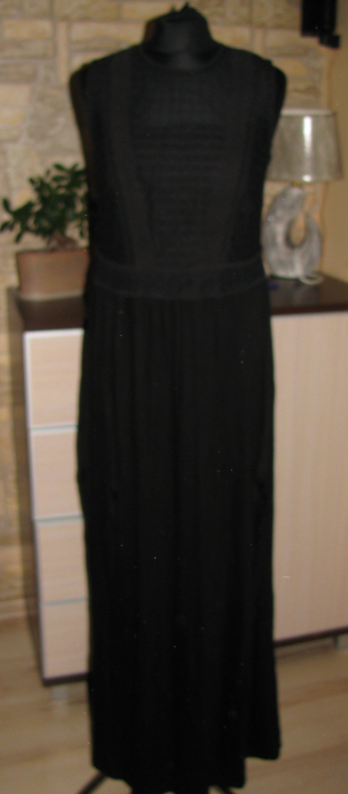 4f371a688d h m-czarna długa sukienka z ażurem - 7413064004 - oficjalne archiwum ...