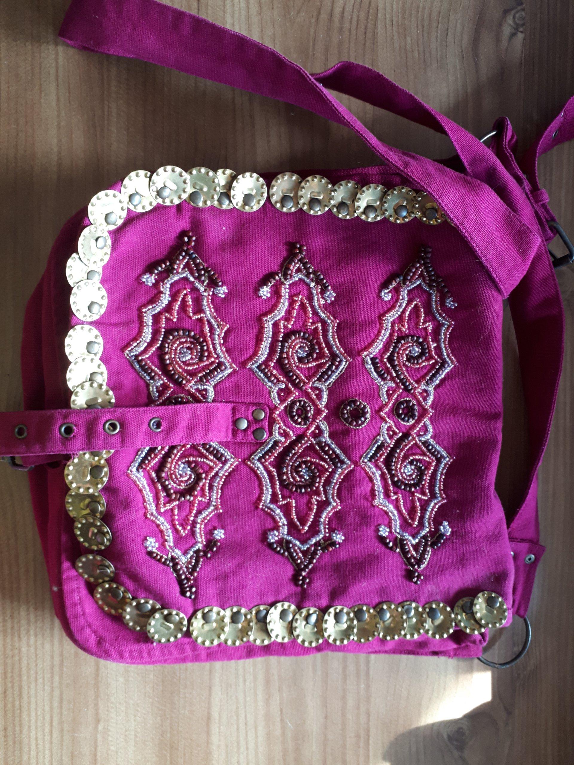 61ffe65357233 H&M piękna torebka etno boho vintage koraliki - 7403374344 ...