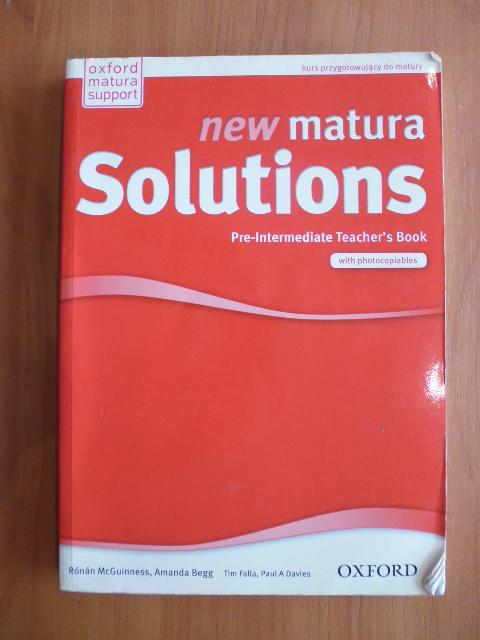 New Matura Solutions Pre Intermediate Teacher Book