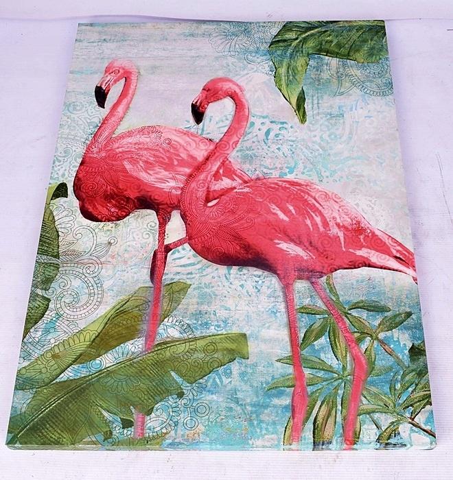 7154 59 Mb Obraz Flamingi Liscie 77x57 7540348968
