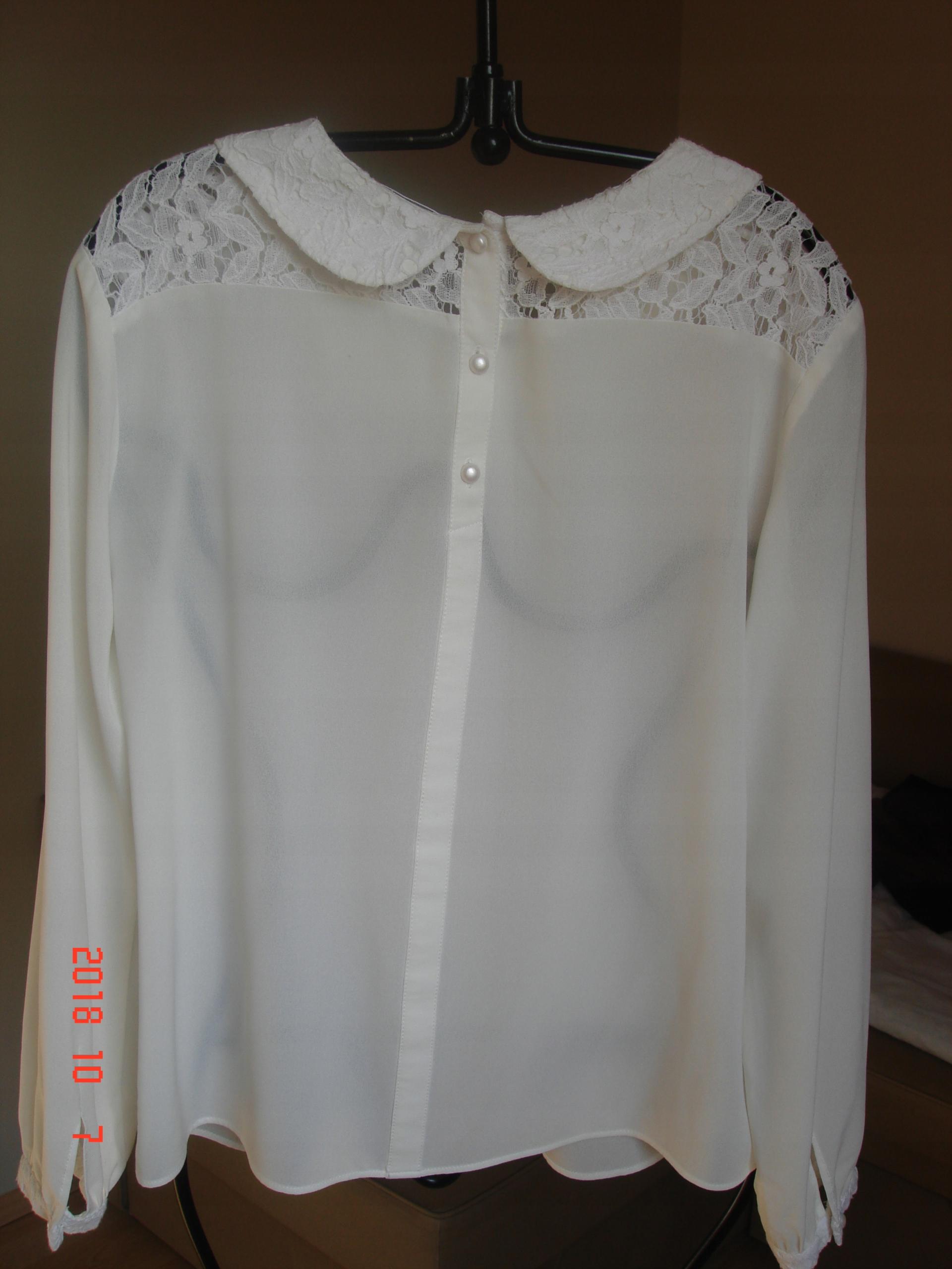 1144699788 Taranko- bluzka kremowa z kołnierzykiem
