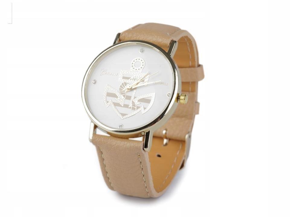 Zegarek damski 3,8x24 cm z kotwicą 25 szt