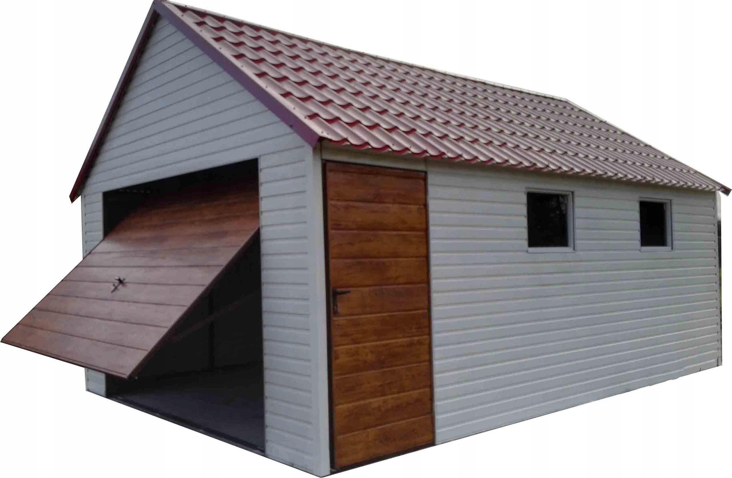 Garaż Blaszany Drewnopodobny Akrylowy Nowość 7466340543