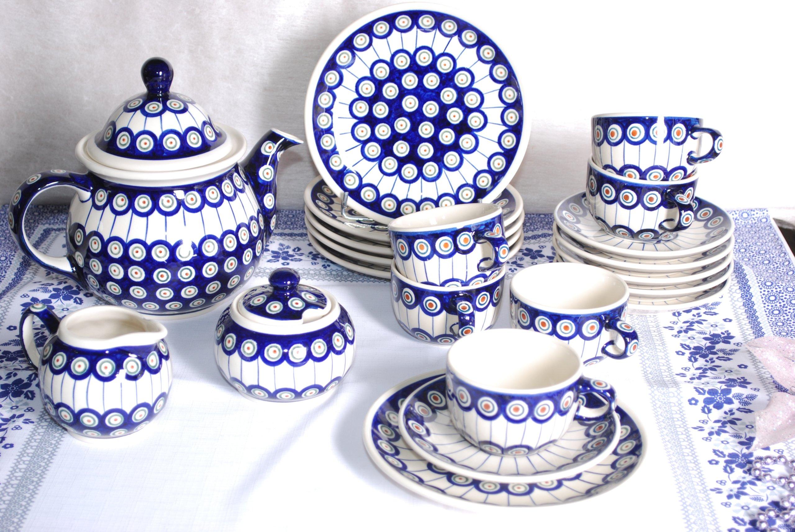 Ceramika Bolesławiec Komplet śniadaniowy Dla 4 Os 7307667199