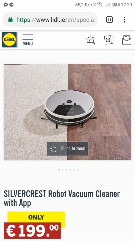 Odkurzacz Robót Sprzątający Nie Roomba Silvercrest 7712933713