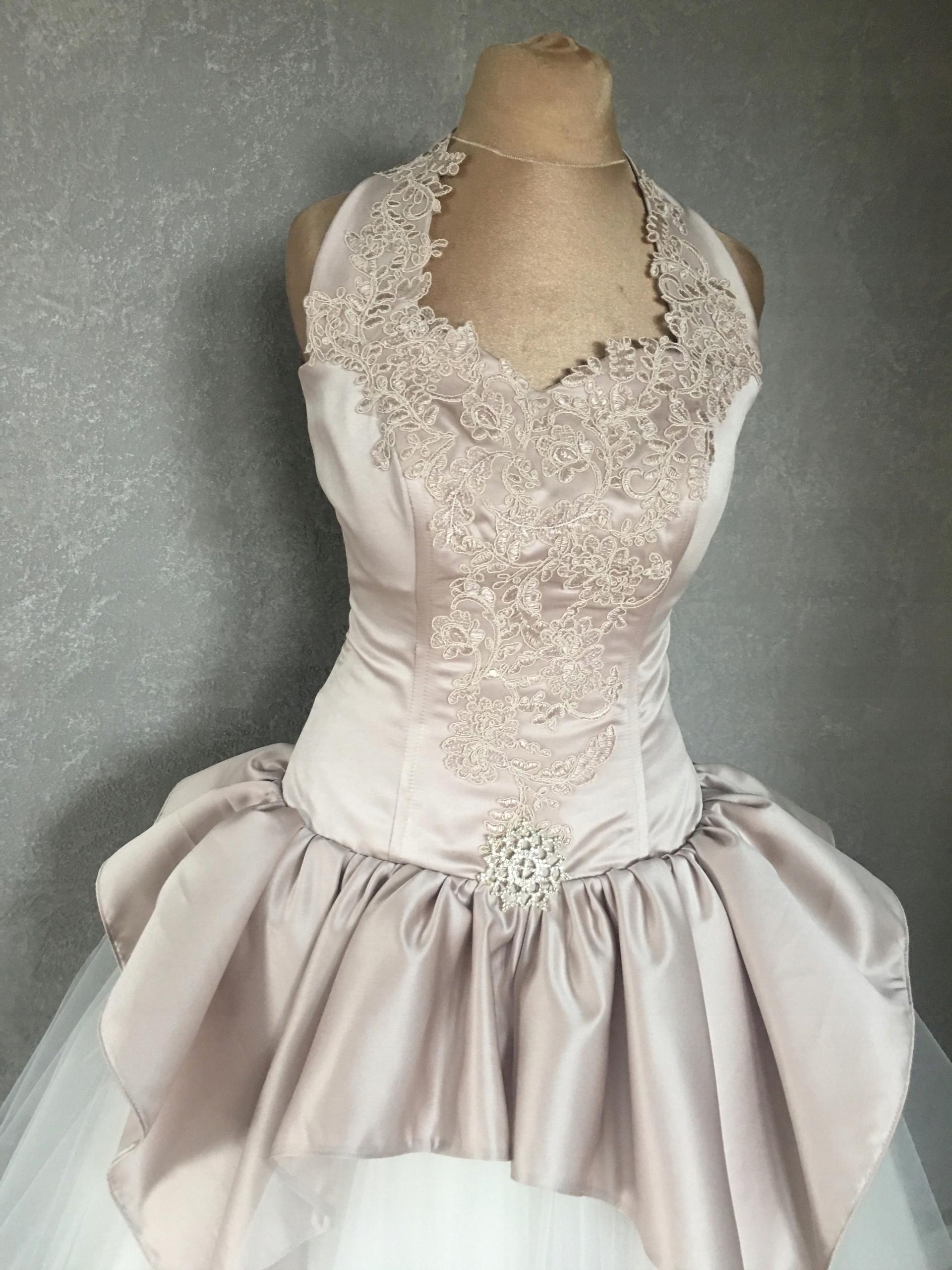 48d34e8924 Sukienka ślubna suknia koronkowa tiulowa SHELLY - 7460630955 ...