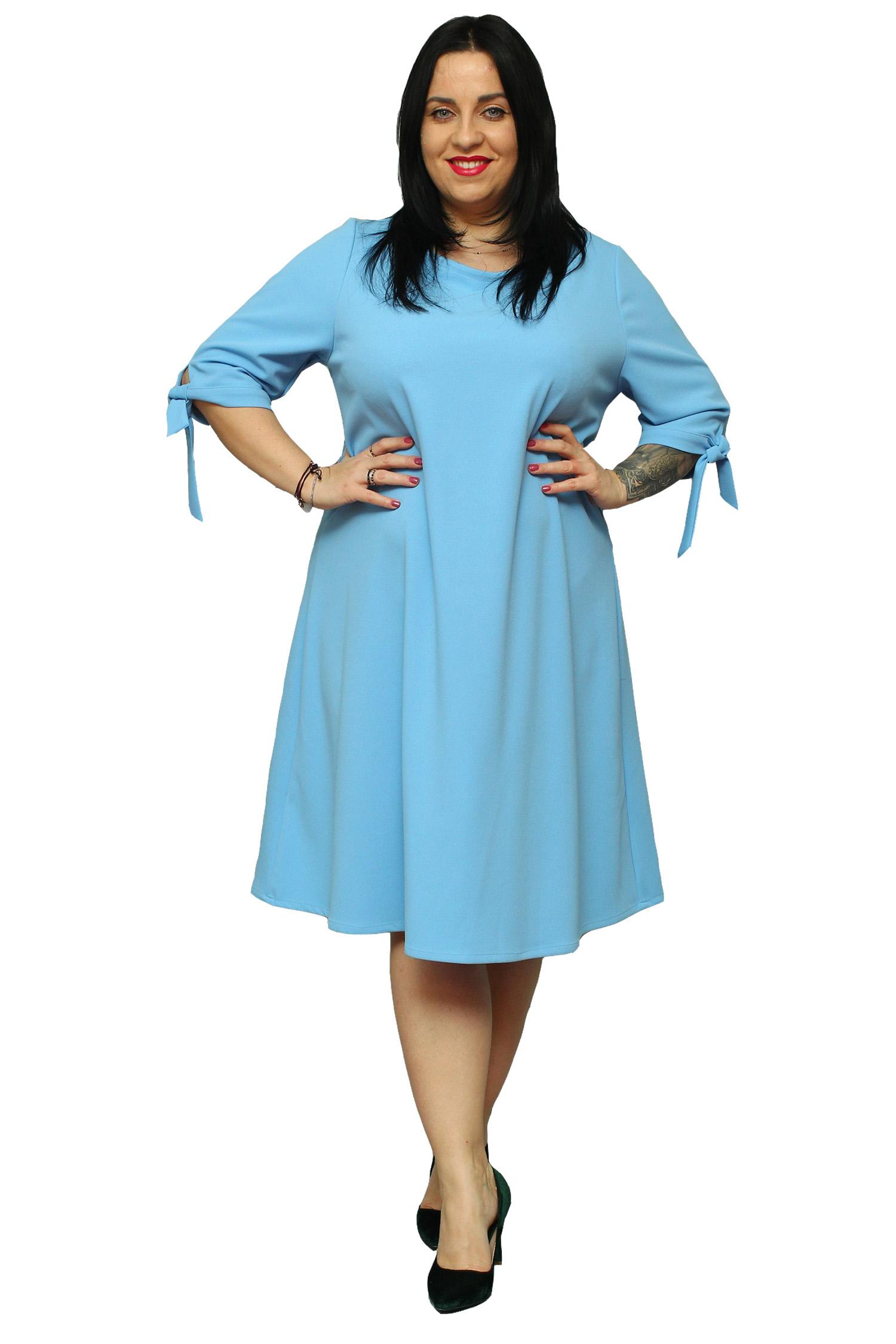 ff457ba176 Sukienka Majka traapezowa pasek błękitna 54 - 7220091685 - oficjalne ...